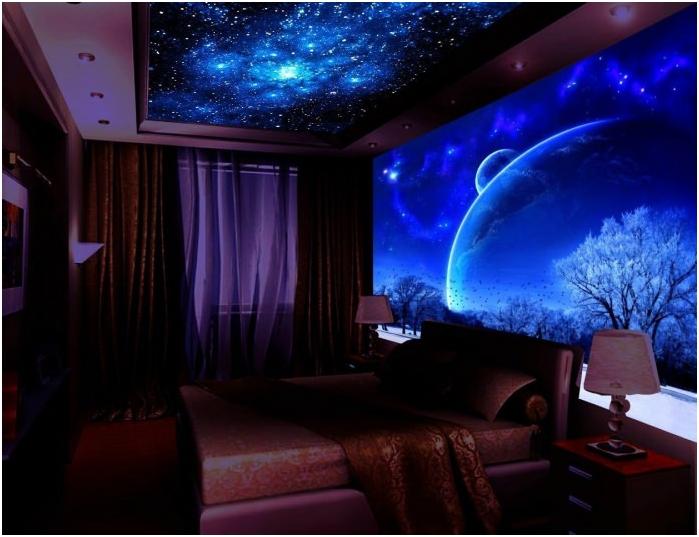 флуоресцентни тапети в спалнята