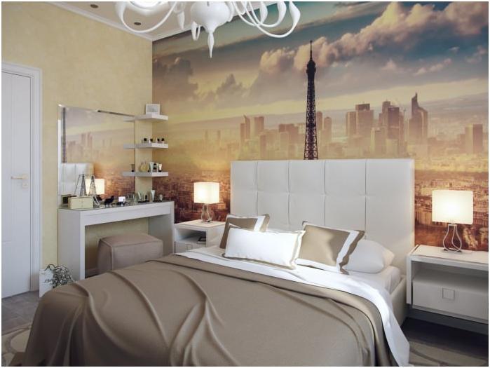 Тапет в дизайна на спалнята