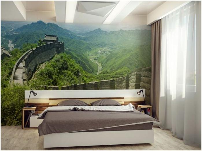 Фото тапет в спалня дизайн