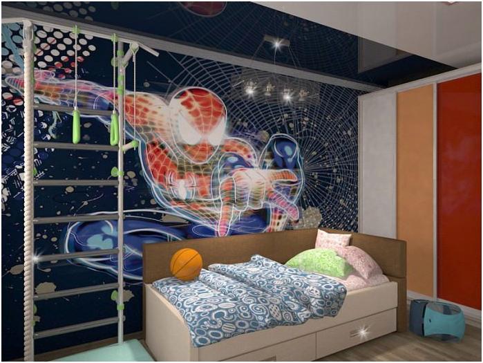 интериор на детска стая с фототапет