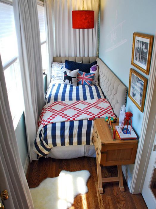 Спално място на балкона.