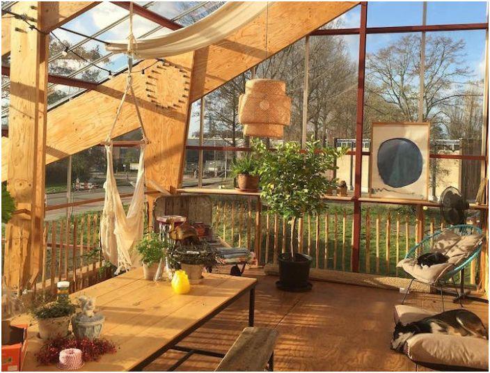 Къща-оранжерия в Ротердам. Хол.