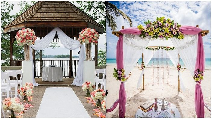 Сватбените беседки са чудесен вариант за декориране на сватбено тържество.