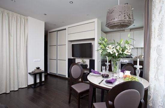 Как успешно да комбинирате спалня с хол в апартамент (снимка на интериора)