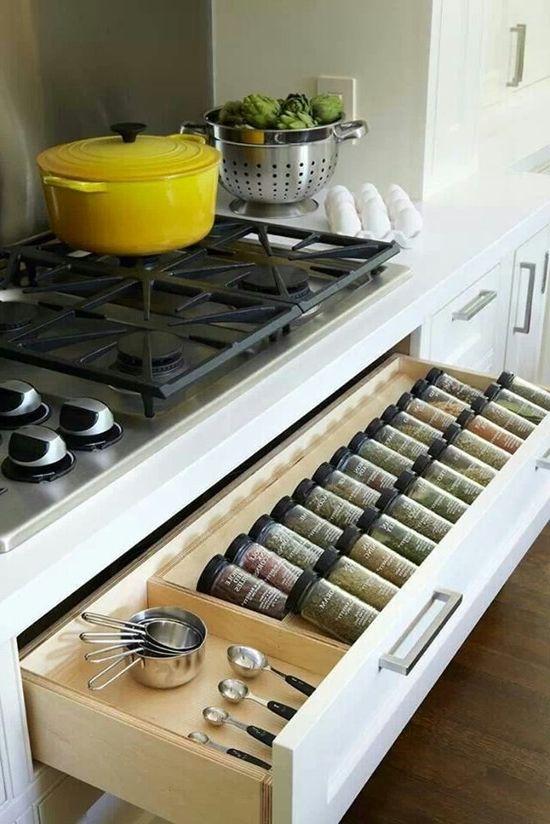 Как да увеличите капацитета на кухненските мебели в малка кухня