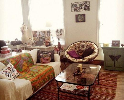 Бюджетен вариант за бохемския интериор на малък апартамент. Бохо шик стил в малък градски апартамент (снимка)