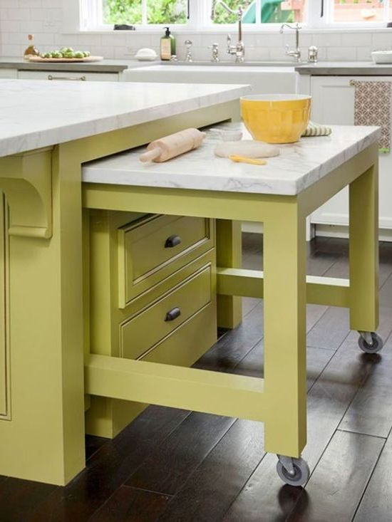 kjøkken. uttrekkbar bord