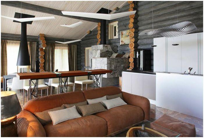 интериор в дървена къща