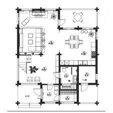 Wnętrze domu z drewna klejonego warstwowo 200m2 m-4