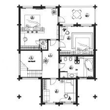 Интериор на къщата, изработен от залепен ламиниран дървен материал 200 кв. m-5