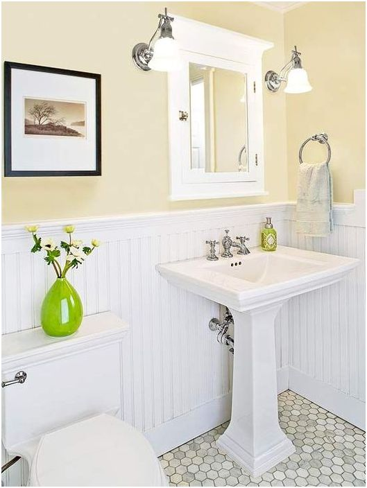 Деликатен интериор за баня