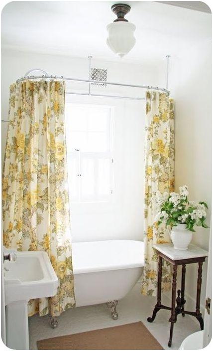 Пример за това как една завеса може да създаде настроение в интериора