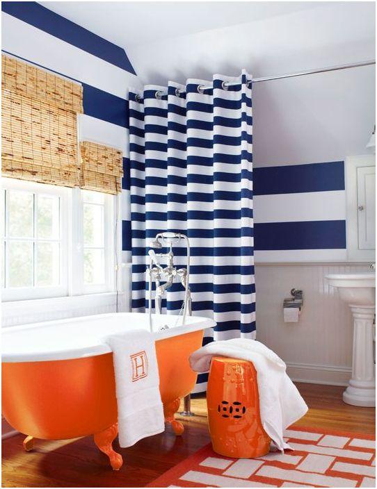 Ярки цветове в банята