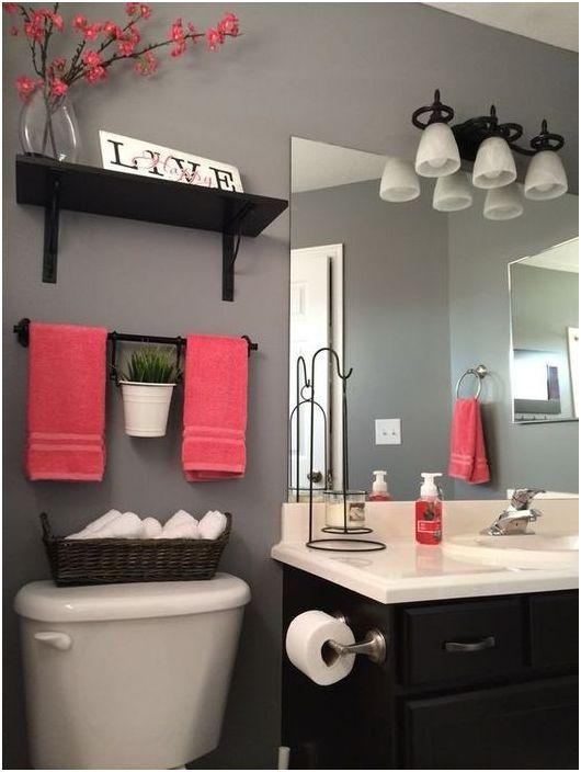 Кърпи могат да се използват за промяна на интериора на всяка баня