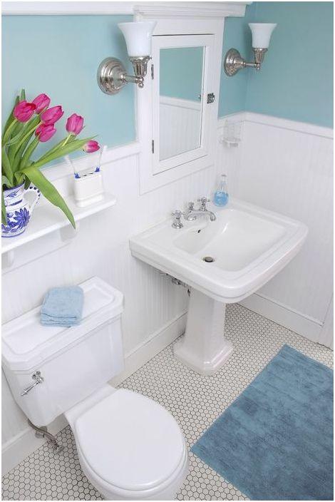 Деликатен и ненатрапчив интериор за баня