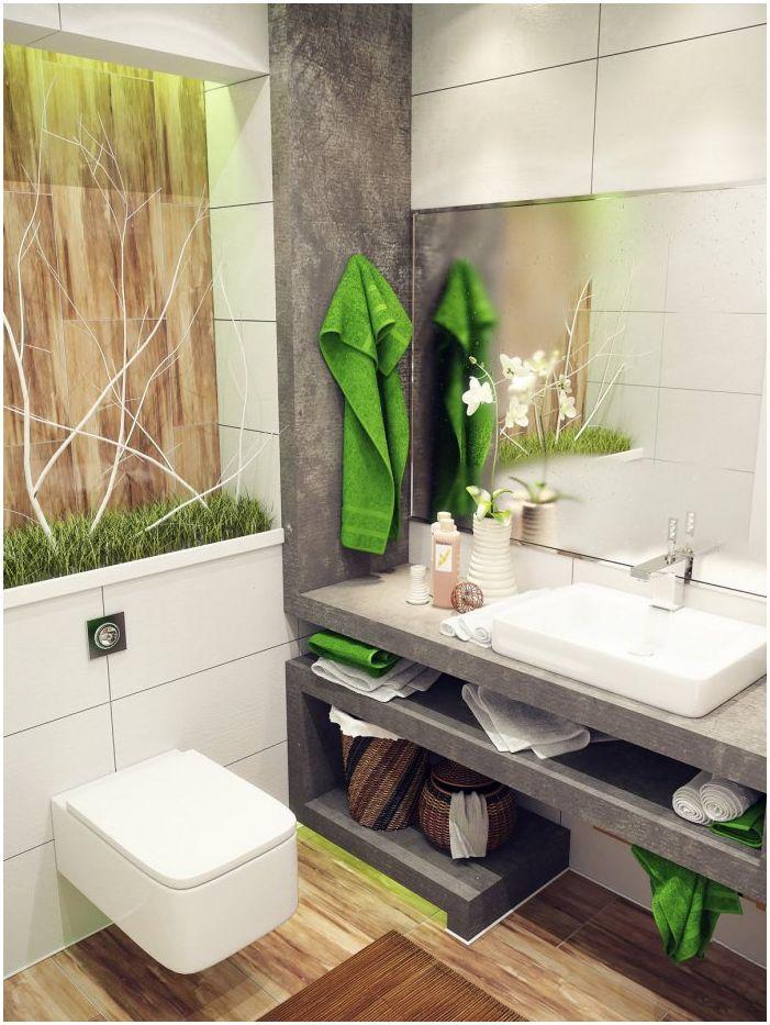 интериор на банята 4 кв. м.