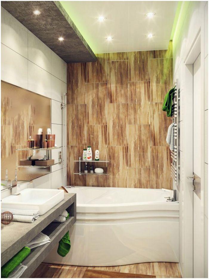 интериор на малка баня 4 кв. м.