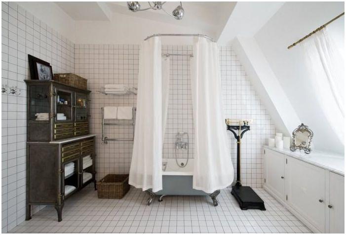 баня в ретро стил