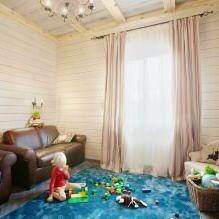 Wnętrze wiejskiego domu z drewna klejonego warstwowo 270 mkw. m-1