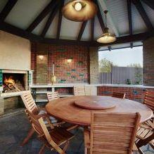 Wnętrze wiejskiego domu z drewna klejonego warstwowo 270 mkw. m-7