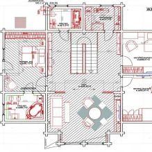 Wnętrze wiejskiego domu z drewna klejonego warstwowo 270 mkw. m-9