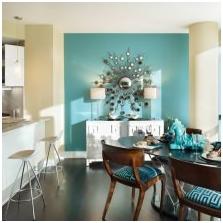 Wnętrza w kolorze turkusowym: cechy, foto-2