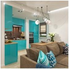 Wnętrza w kolorze turkusowym: cechy, zdjęcie-1