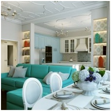 Wnętrza w kolorze turkusowym: cechy, zdjęcie-3