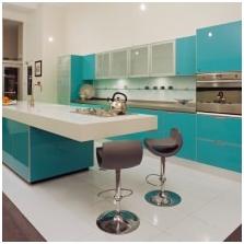 Wnętrza w kolorze turkusowym: cechy, foto-5
