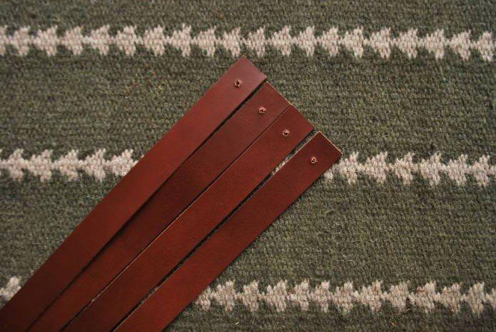 как да направите рафтове на стената от кожени каишки?