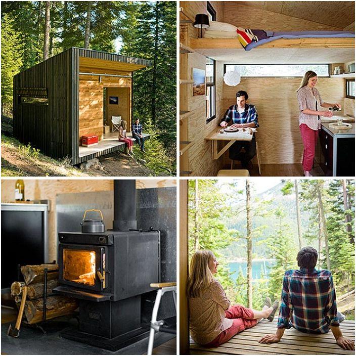 Une petite maison dans la forêt est confortable et douillette.