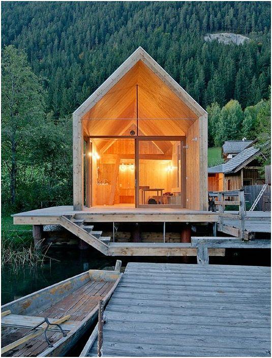 Une maison à proximité avec laquelle se trouve le réservoir vous permet de créer une atmosphère particulière.