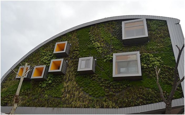 CSI-IDEA Building. Вертикальный сад.