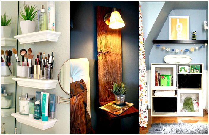 Блестящи идеи за подреждане на малък апартамент.