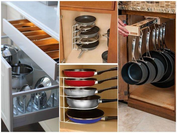 Правилна организация на пространството в кухненския шкаф
