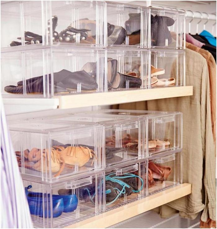 прозрачни контейнери за съхранение на обувки