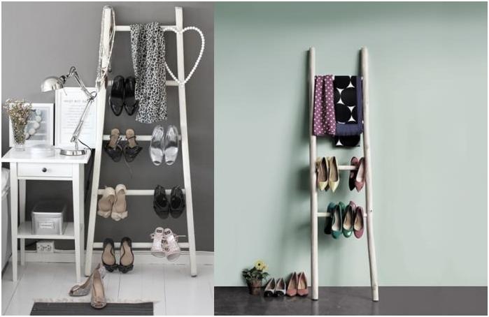 декоративна стълба за съхранение на обувки