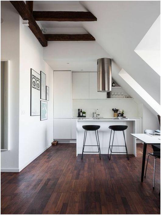 Лаконичен интериор на кухнята