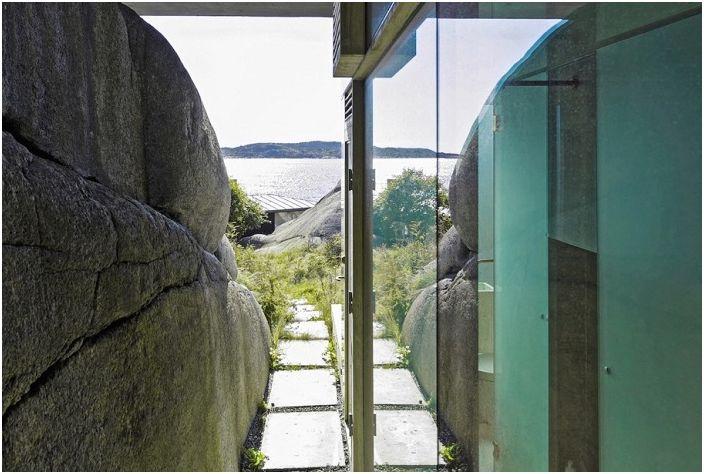 Knapphullet to dom, w którym wszystkie ściany są wykonane ze szkła.
