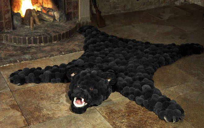 Фото коврика из помпонов