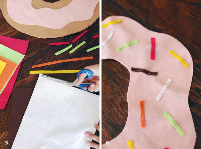 подушка-пончик из фетра своими руками