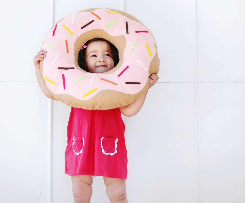 подушка-пончик из фетра