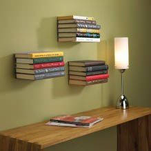Jak zrobić niewidzialną półkę z książki własnymi rękami? -2