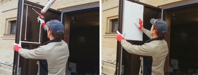 как да изолирате желязна входна врата