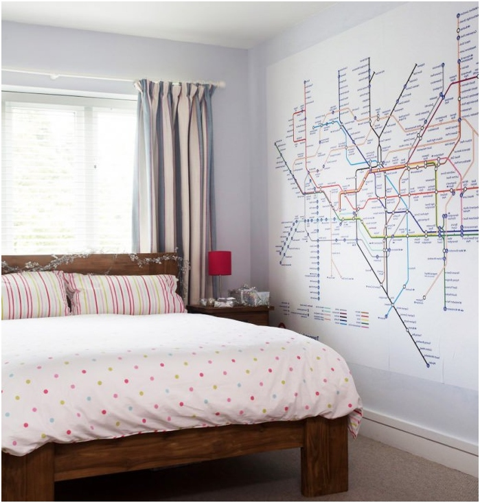 metrokartta makuuhuoneen sisätiloissa