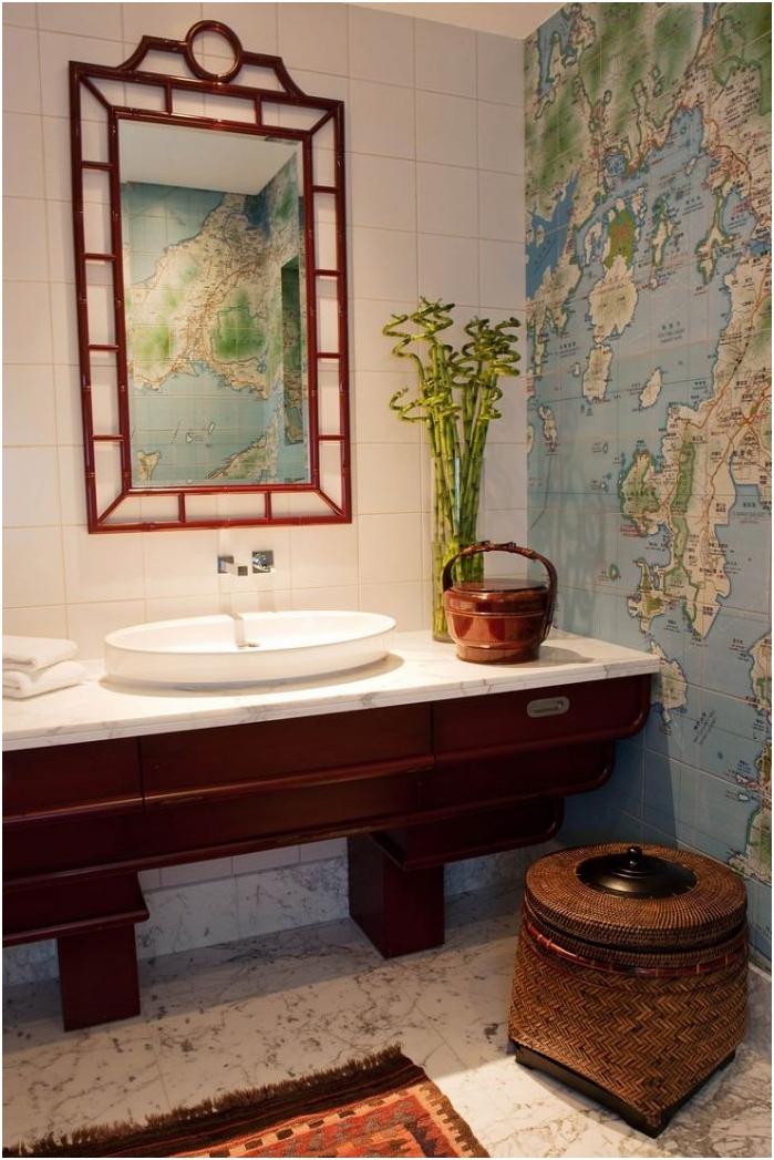 kartta kylpyhuoneen sisätiloissa