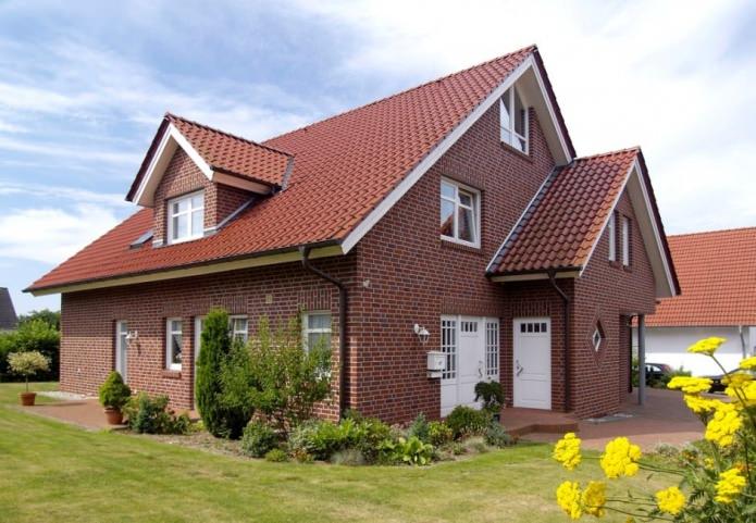 тухлена къща дизайн