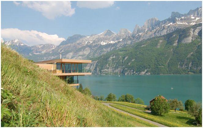 Piękne domki na zboczach gór