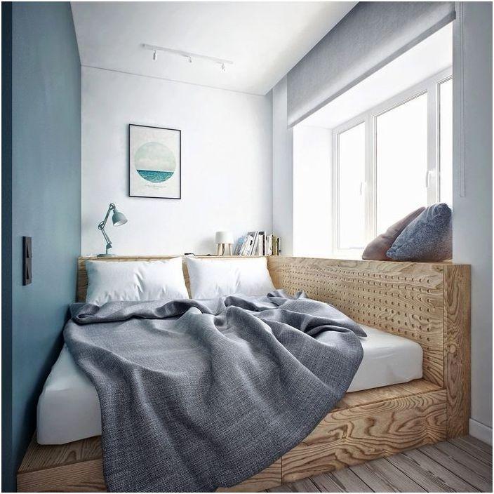 Stylowe rozwiązanie do bardzo małej sypialni