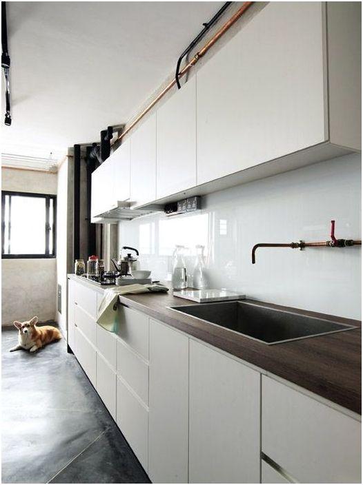 Лаконичен вариант за минималистична кухня